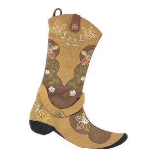 Brown Floral Boot Stocking For Sale