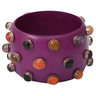 Purple Bangle Bracelet For Sale