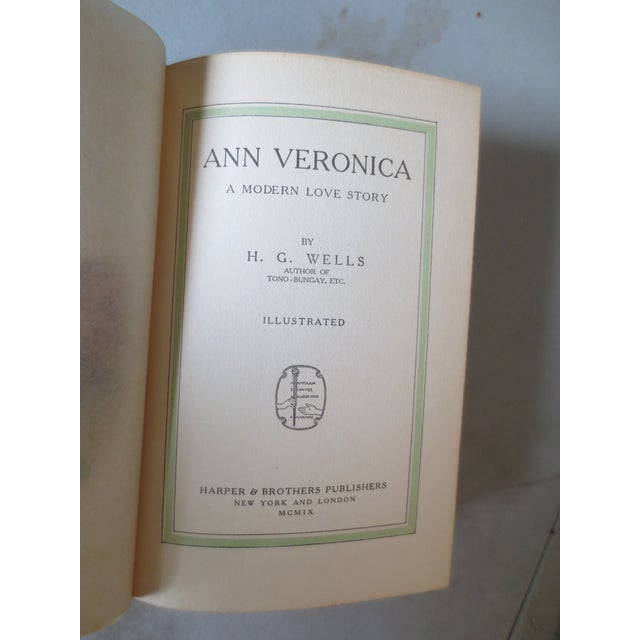 Ann Veronica by H.G. Wells, 1909, 1st Edition - Image 4 of 6