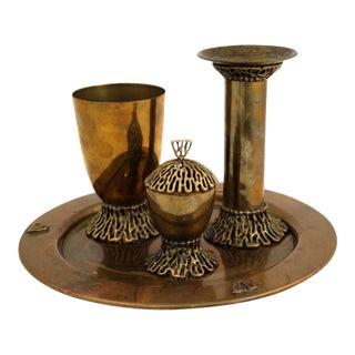 Brass Havdalah Service From Israel - Set of 4