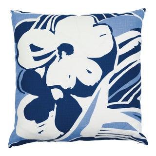 Schumacher Stevie Pillow in Blue & White For Sale