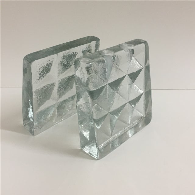Blenko Glass Bookends- Pair - Image 2 of 5