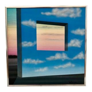 1980s Memphis Surrealist Sky Painting For Sale