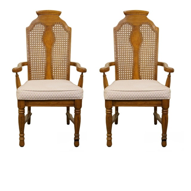 Henry Link Dixie Contemporary Style Cane Back Dining Arm Chairs - a Pair For Sale - Image 13 of 13