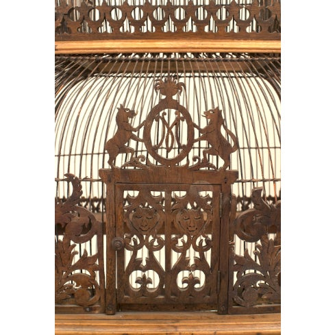 Traditional Large Turn of the Century French Birdcage For Sale - Image 3 of 4