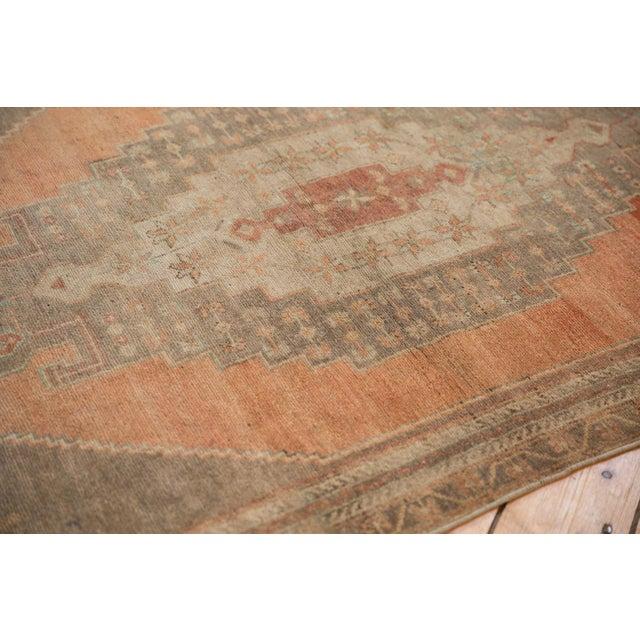 "Vintage Distressed Oushak Rug Runner - 3'9"" X 7'11"" For Sale - Image 9 of 11"