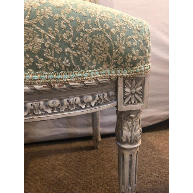 Pair of 19th-20th Century Paint Decorated Louis XVI Style Swedish Side Chairs For Sale - Image 9 of 13