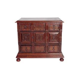A Late 19th Century Oak Jacobean Style Chest For Sale