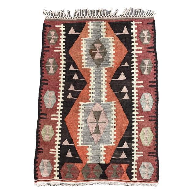 1930s Turkish Vintage Hand-Knotted Kilim Rug For Sale - Image 10 of 10