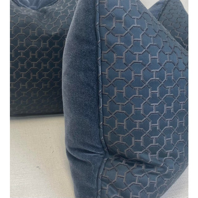 "Transitional Hermès ""Quartz in Universe"" 16""x20"" Pillows-A Pair For Sale - Image 3 of 5"