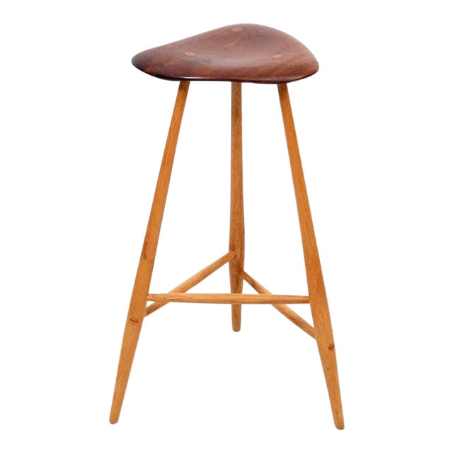 1980s Barstool by Horace B. Hartshaw For Sale - Image 12 of 12