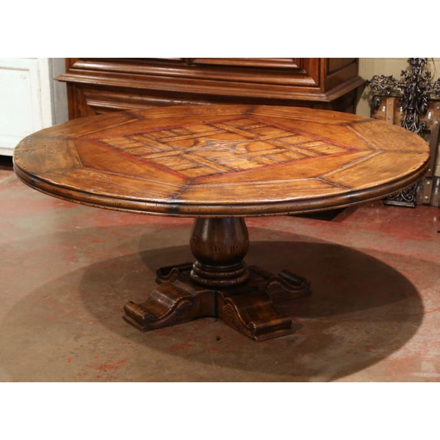Crafted in the Pyrenees mountains of France half a century ago with 18th and 19th century old timber, the six foot round...