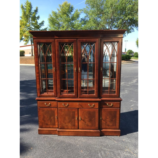 Ethan Allen Breakfront China Cabinet - Image 2 of 8