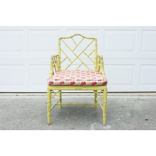 Chippendale Faux-Bamboo Fretwork Armchair - Image 2 of 8
