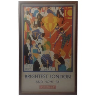 Art Deco Horace Taylor London Underground Poster For Sale