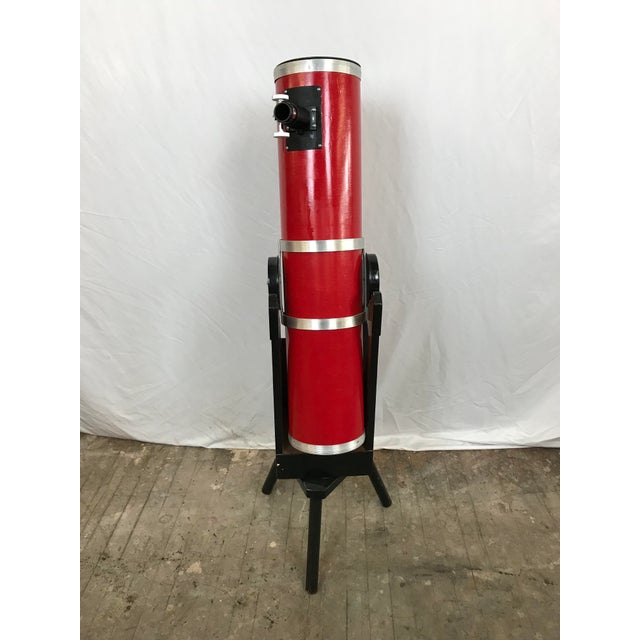 Americana Dobsonian Type Red Telescope Functional Sculpture For Sale - Image 3 of 10