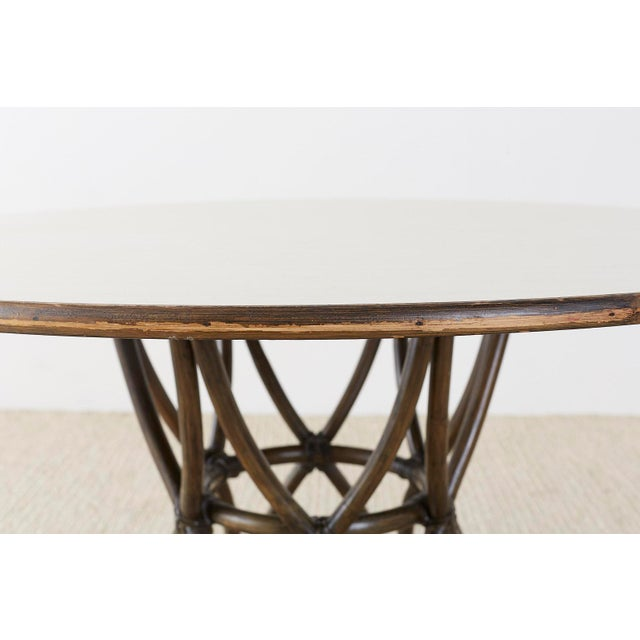 McGuire McGuire Organic Modern Round Game or Dining Table For Sale - Image 4 of 13