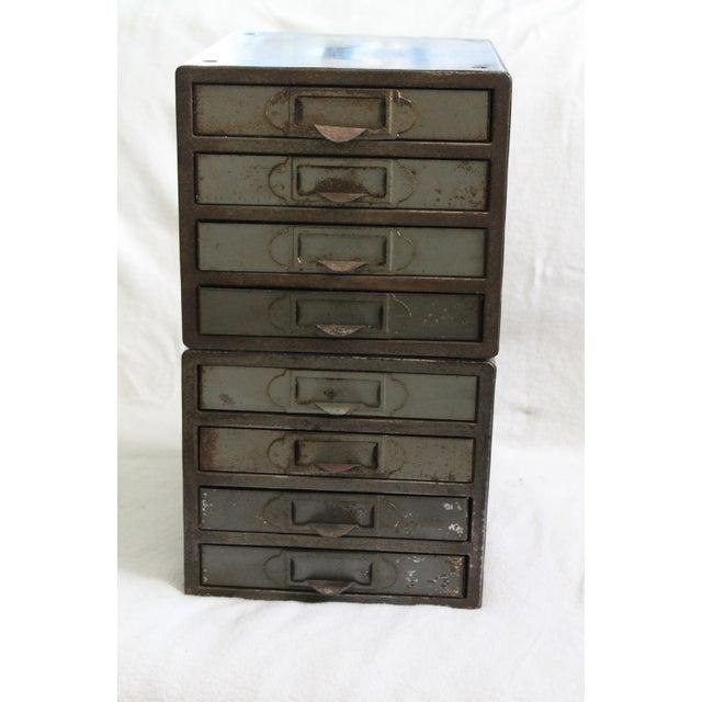 Industrial Metal Storage Desktop Cabinets - Image 6 of 11