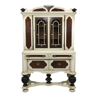 Jacobean Mahogany China Cabinet For Sale