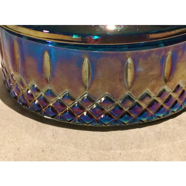 Indiana Glass Co. Mid-Century Carnival Glass Candy Dish - Image 4 of 8