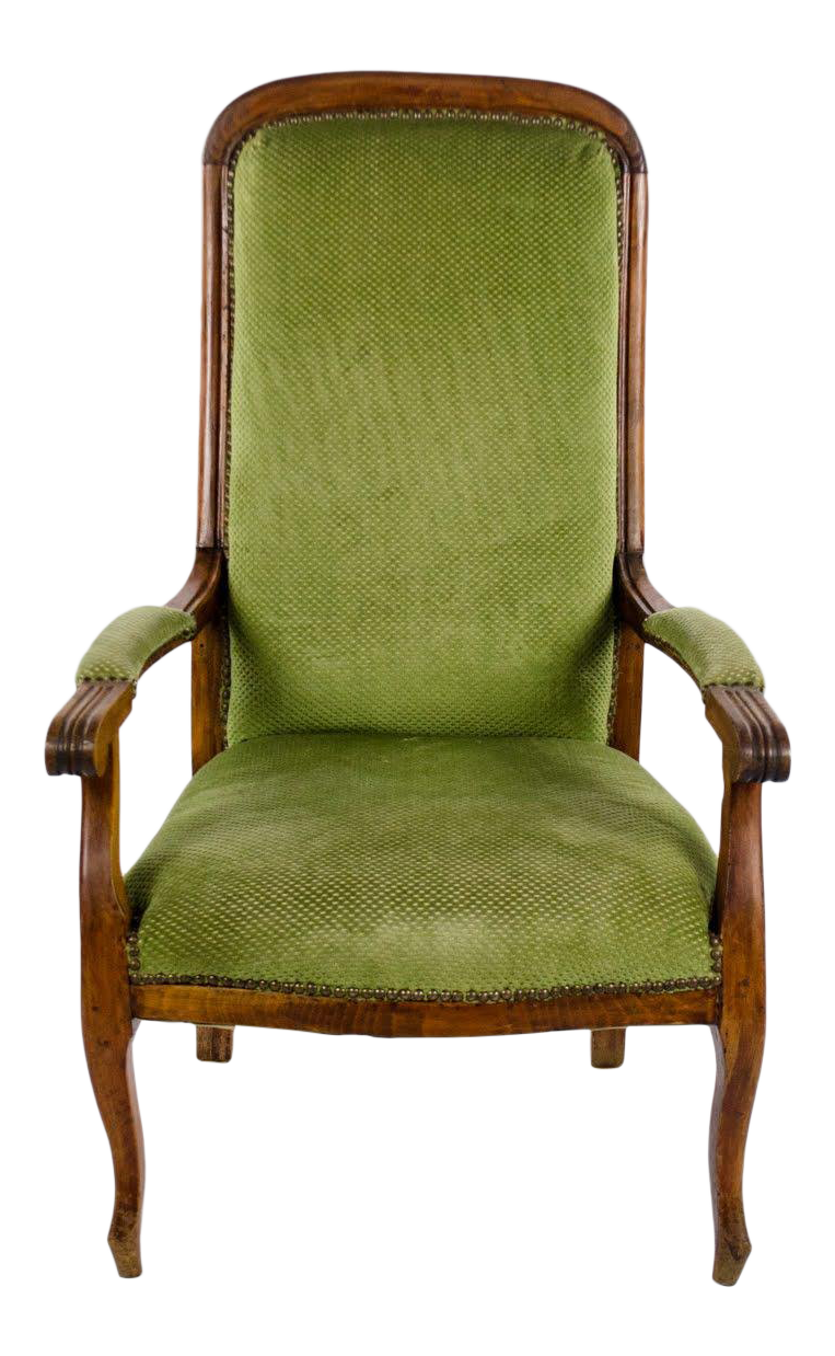 Transitional Queen Anne Style Accent Chair