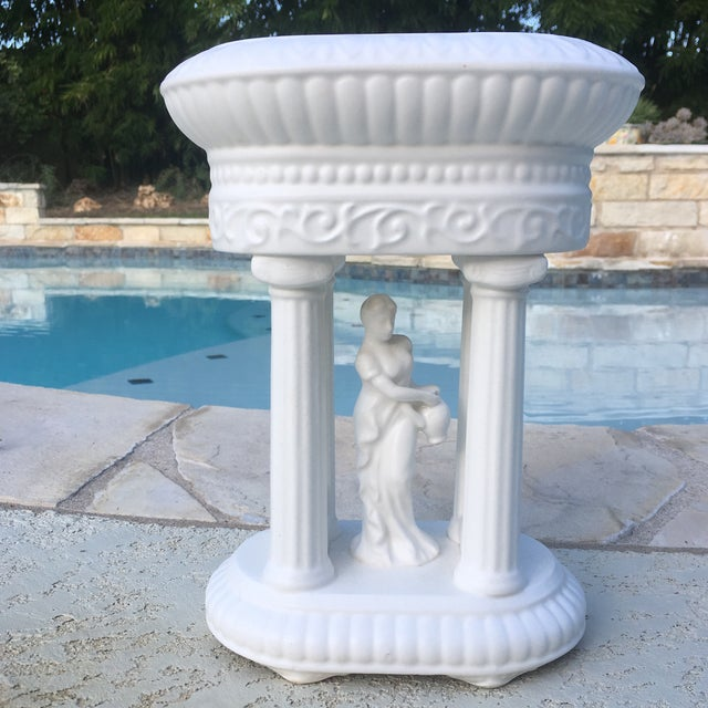 Plastic Mid-Century Neoclassical Matte Finish Planter For Sale - Image 7 of 11