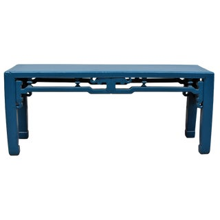 Blue Chinese Antique Bench For Sale