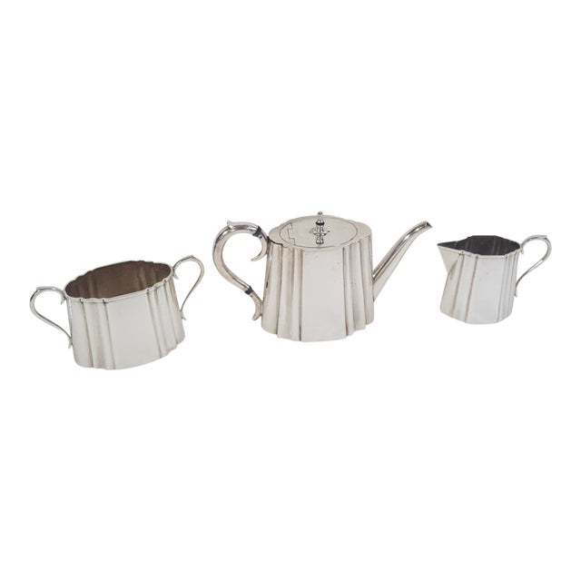 19th Century Traditional Thomas Wilkinson and Sons Silverplate Tea Set - 3 Pieces For Sale