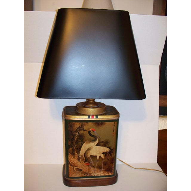 Vintage Frederick Cooper Tea Canister table lamp. With a black shade . Excellent condition as consistent with age. Shade...