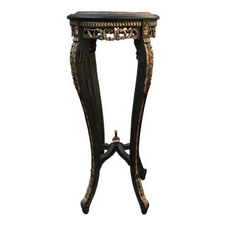 Chinoiserie Black and Gold Display Table For Sale