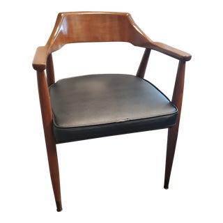 Gunlocke Sculptural Walnut Arm Chair For Sale