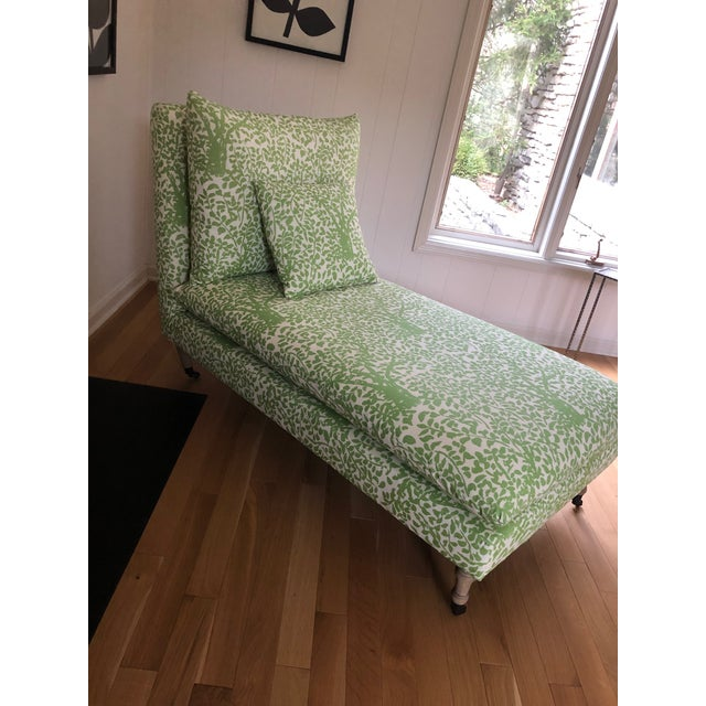 2010s Arbre De Matisse Fabric Classic Chaise For Sale - Image 5 of 6