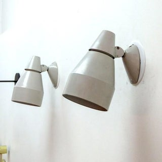 Pair of Kaiser Light Gray Enameled Metal Wall Lamps Preview