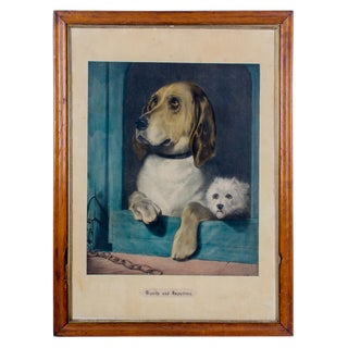 """Dignity and Impudence Dog"" Lithograph Print by Sir Edwin Henry Landseer For Sale"