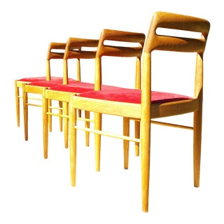 1970s Danish Modern h.w. Klein for Bramin Møbler Dining Chairs - Set of 4