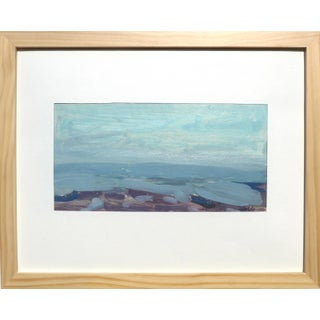 """""""Normandy Beach"""" Contemporary Impressionist Style Seascape Oil Painting, Framed For Sale"""