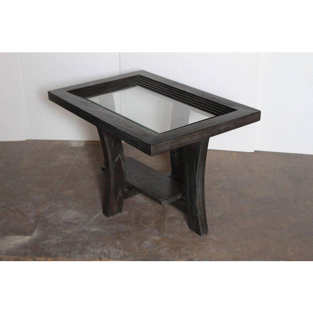 1940s Post Art Deco Cerused Oak Side Table by Brown Saltman Paul Frankl For Sale - Image 5 of 11