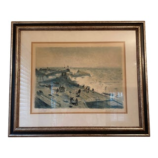 """Normandie"" Mid-Century Original Signed Lithograph by Gaston Sebire For Sale"