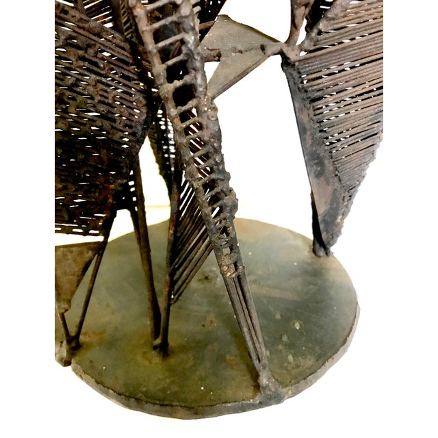 Mid-Century Brutalist Abstract Iron Sculpture For Sale - Image 9 of 13