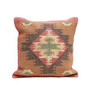 Antique Turkish Kilim Woven Throw Pillow For Sale