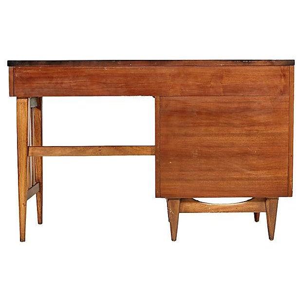 1960s Walnut & Black Top Desk - Image 4 of 5