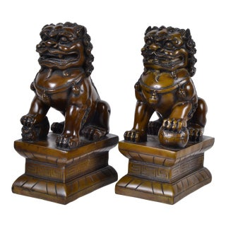 Foo Dogs, Bookends - a Pair