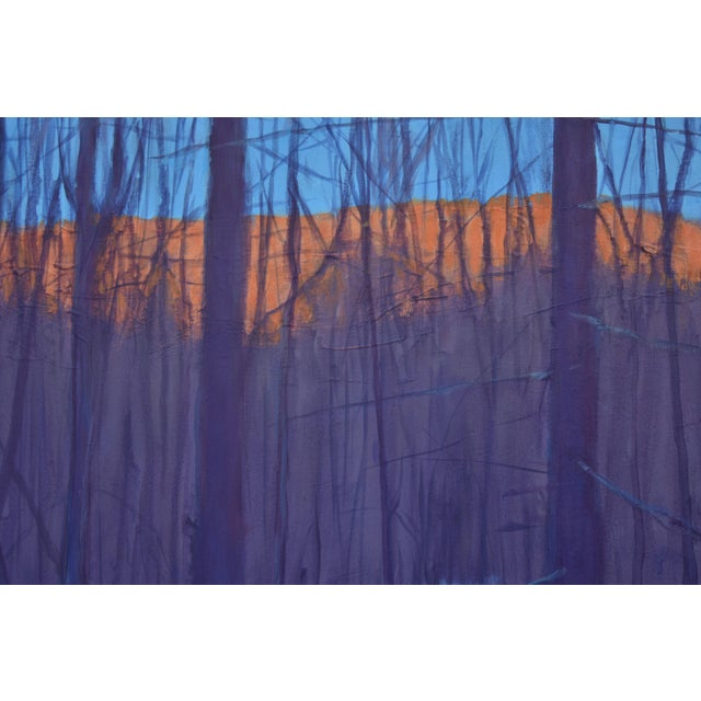 """Wood Stephen Remick """"Nightfall in Deer Hollow"""" Contemporary Expressionist Landscape Painting For Sale - Image 7 of 12"""