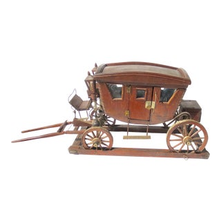 Antique Wood Stagecoach Model For Sale