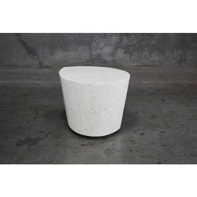 """1990s Contemporary White Freeform Tessellated Stone """"Hampton"""" Side Table For Sale - Image 10 of 13"""