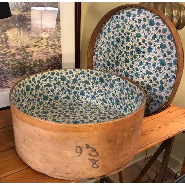 Large Antique Wood Box - Historic Kingston Ny For Sale - Image 4 of 11