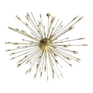 Mid-Century Style Brass Sputnik Chandelier For Sale