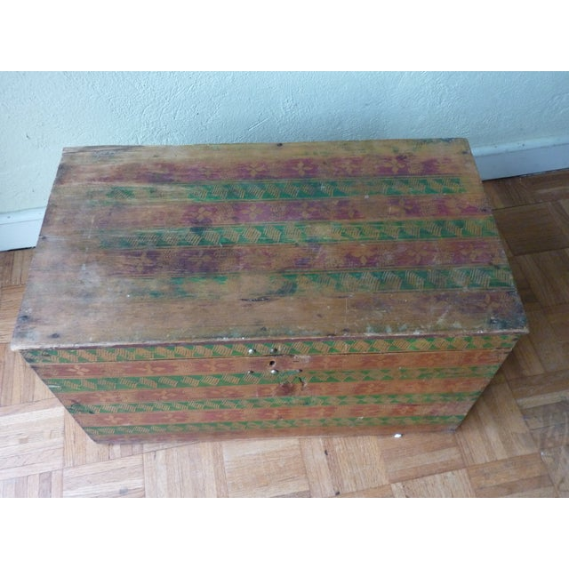 Hand-Painted Guatemalan Trunk - Image 4 of 4
