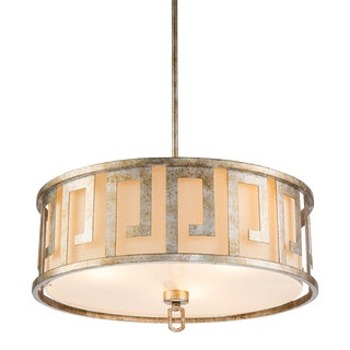 Lemuria Pendant Semi Flush, Large, Distressed Silver For Sale