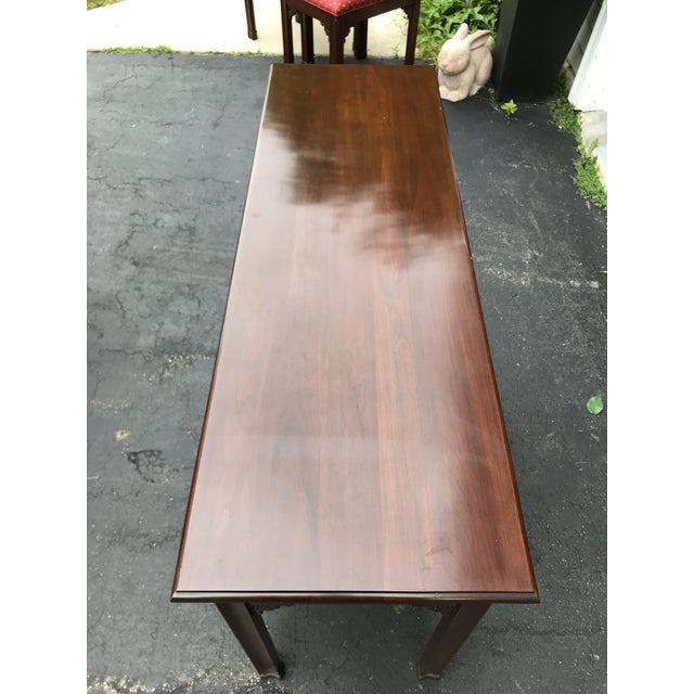 Chippendale Harden Chippendale Sofa Table Credenza With Benches a Pair For Sale - Image 3 of 13